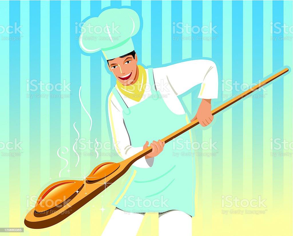 Cool running baker royalty-free stock vector art