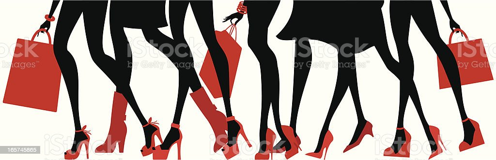 Cool Shoes vector art illustration