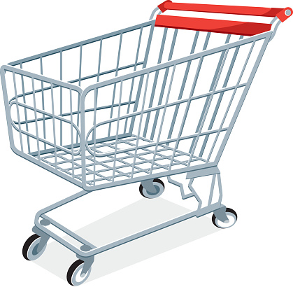 Shopping Cart Clip Art, Vector Images & Illustrations - iStock