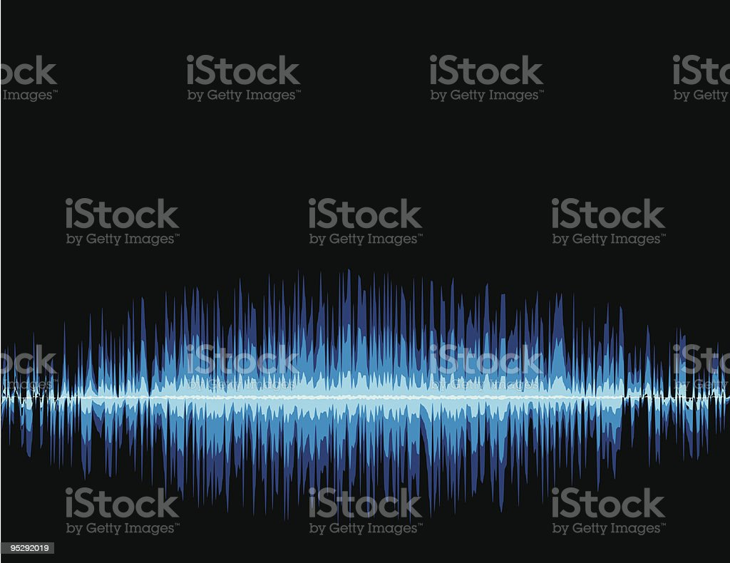 Cool Soundwaves royalty-free stock vector art