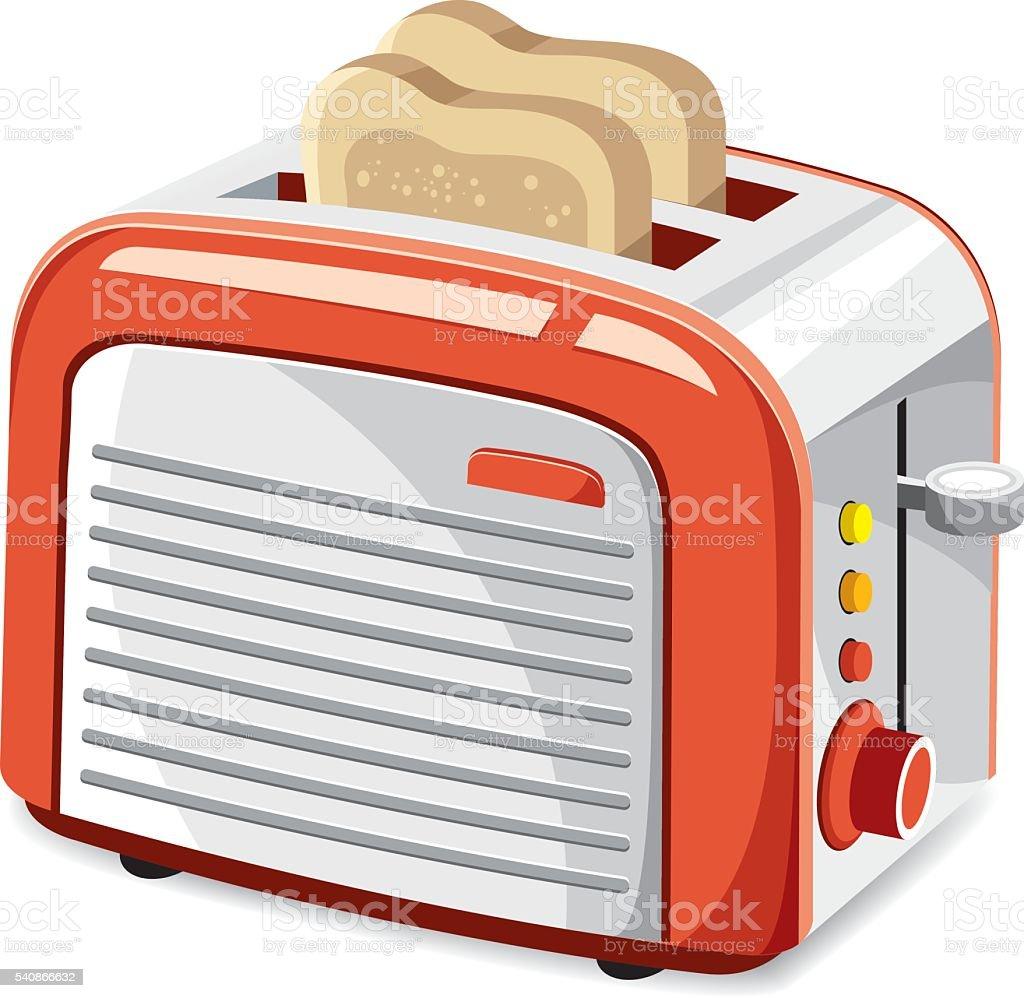 Cool toaster vector art illustration