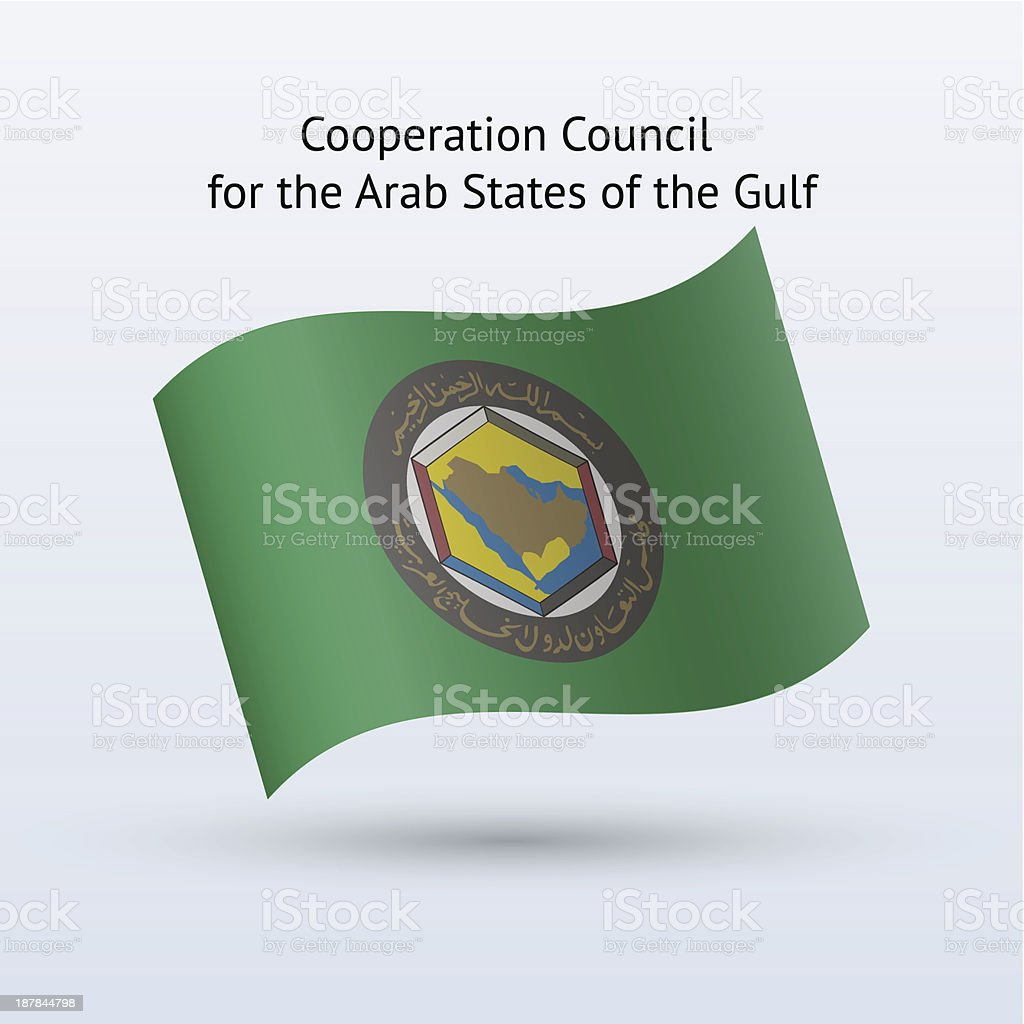 Cooperation Council for the Arab States of Gulf Flag royalty-free stock vector art