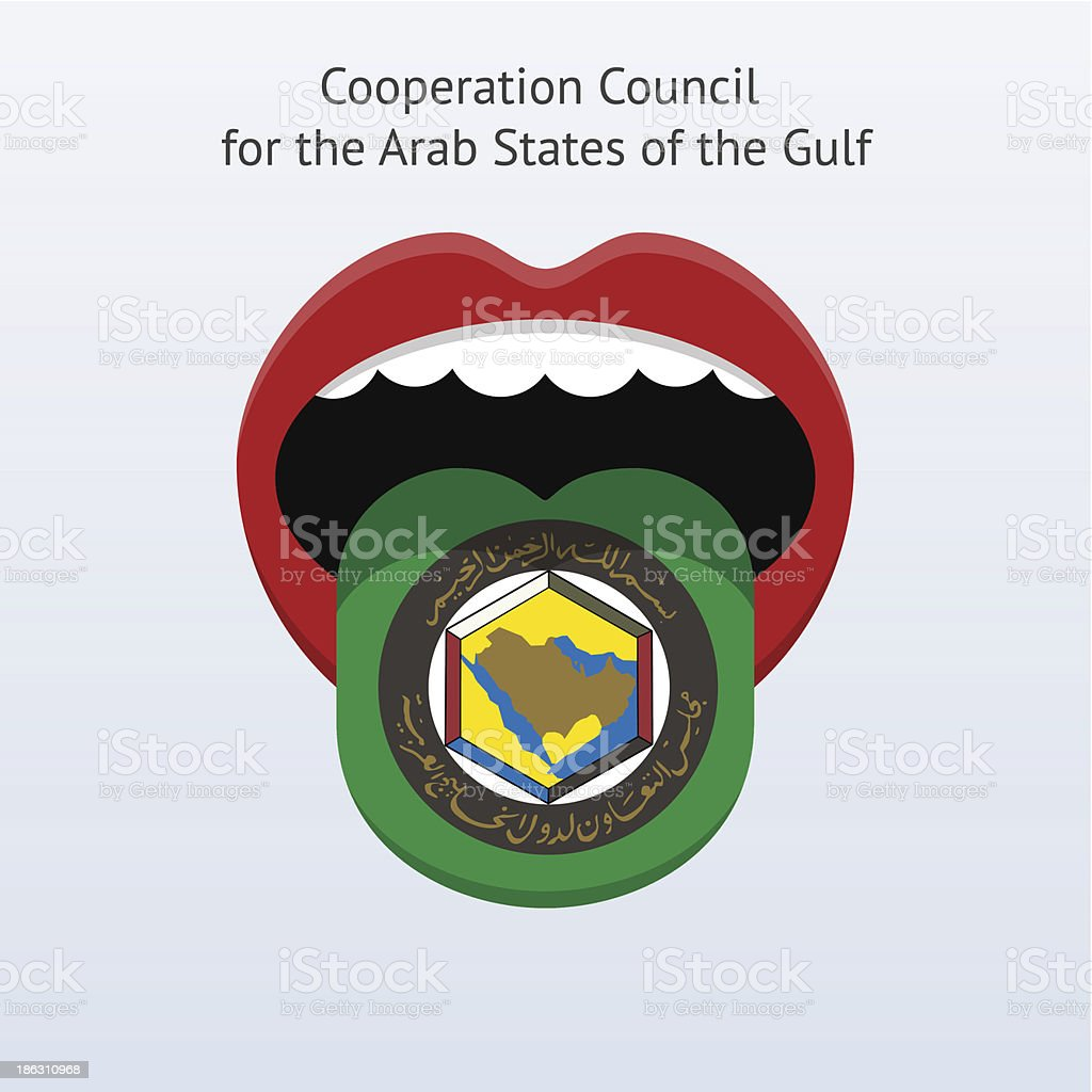 Cooperation Council for the Arab States of Gulf language. royalty-free stock vector art