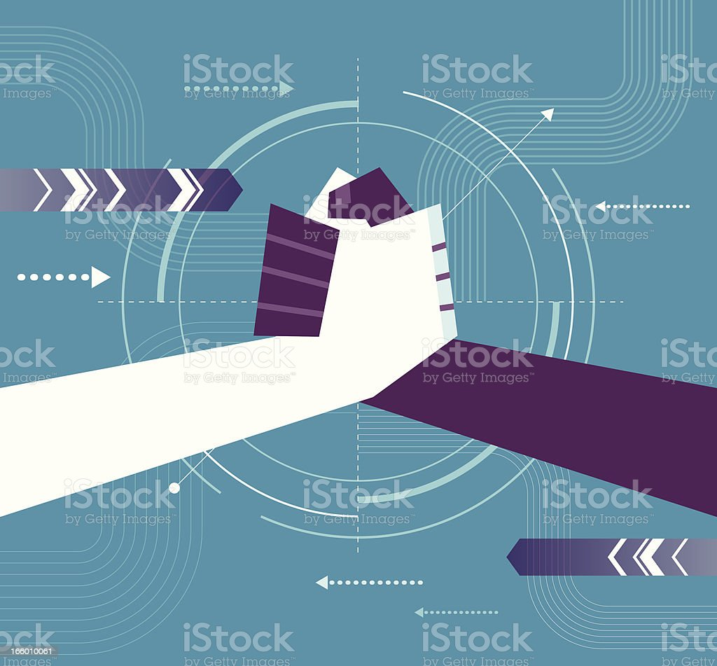 Cooperation Hand vector art illustration