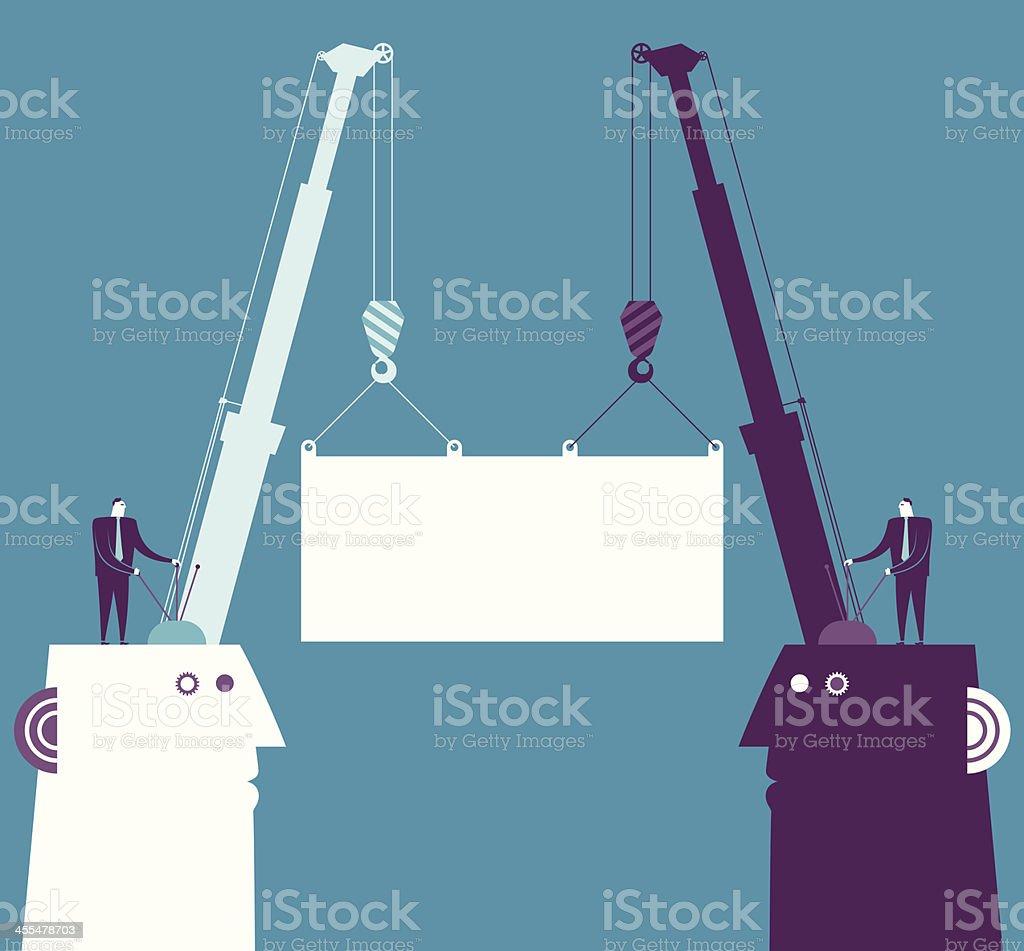 Cooperation vector art illustration