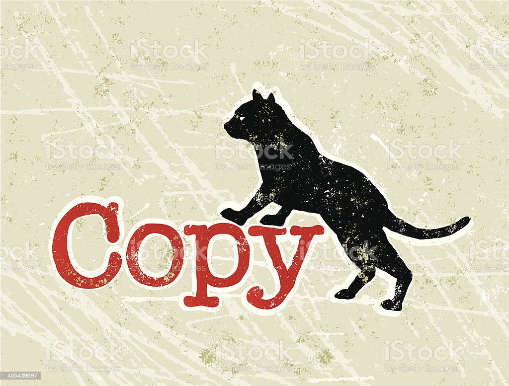 Copy Cat or Copycat Phrase and Text vector art illustration