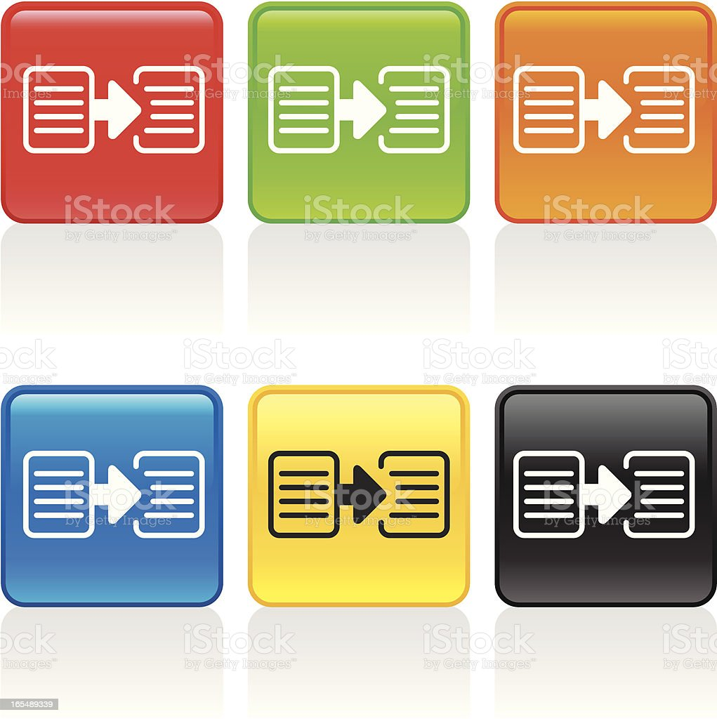 Copy Icon vector art illustration