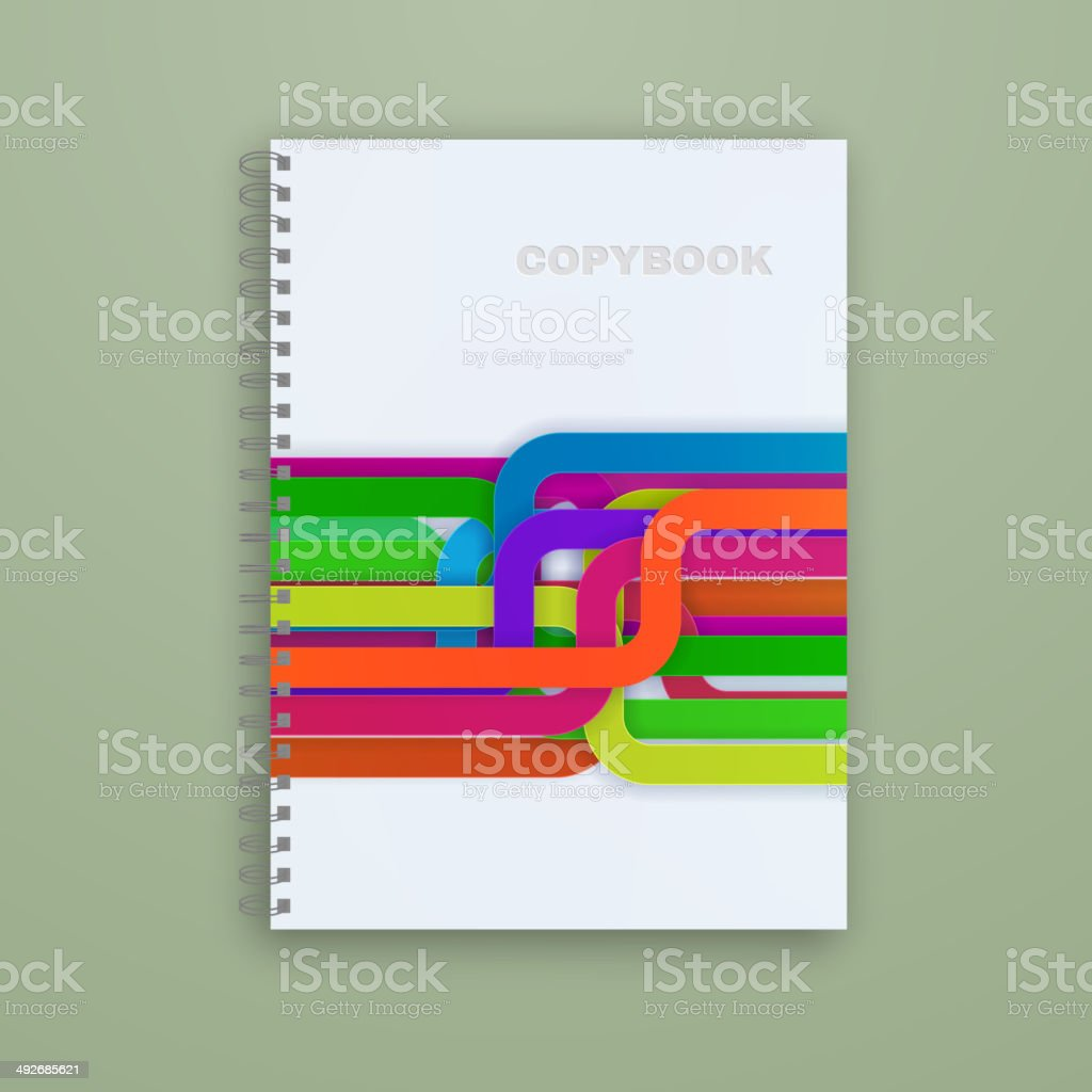 Copybook isolated. Vector vector art illustration