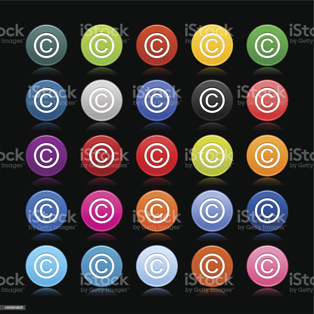 Copyright sign circle icon web internet button royalty-free stock vector art