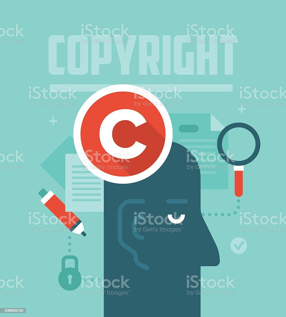 Copyrighting Concept vector art illustration