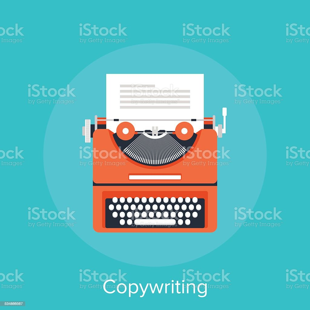 Copywriting vector art illustration