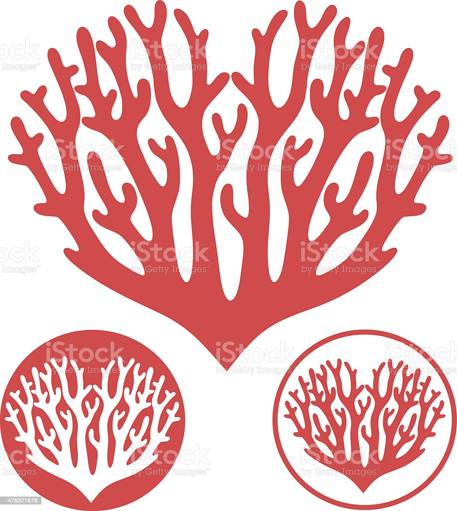 Coral vector art illustration