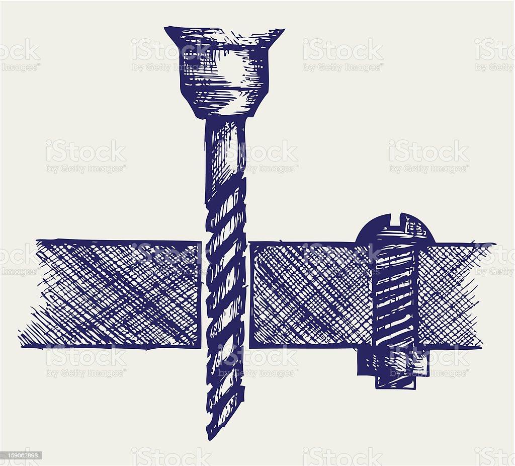 Cordless drill royalty-free stock vector art