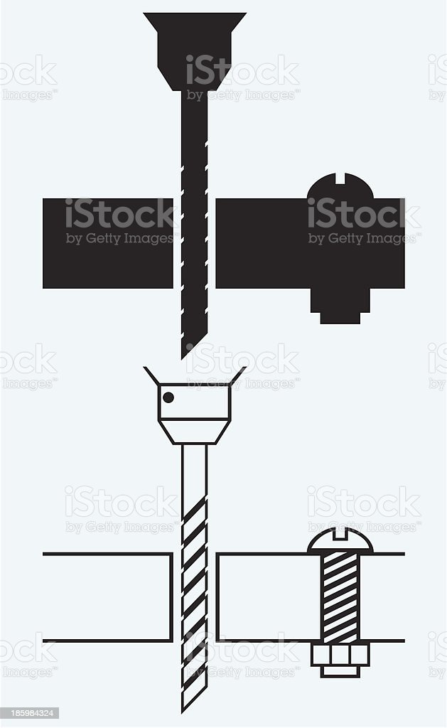 Cordless drill vector art illustration