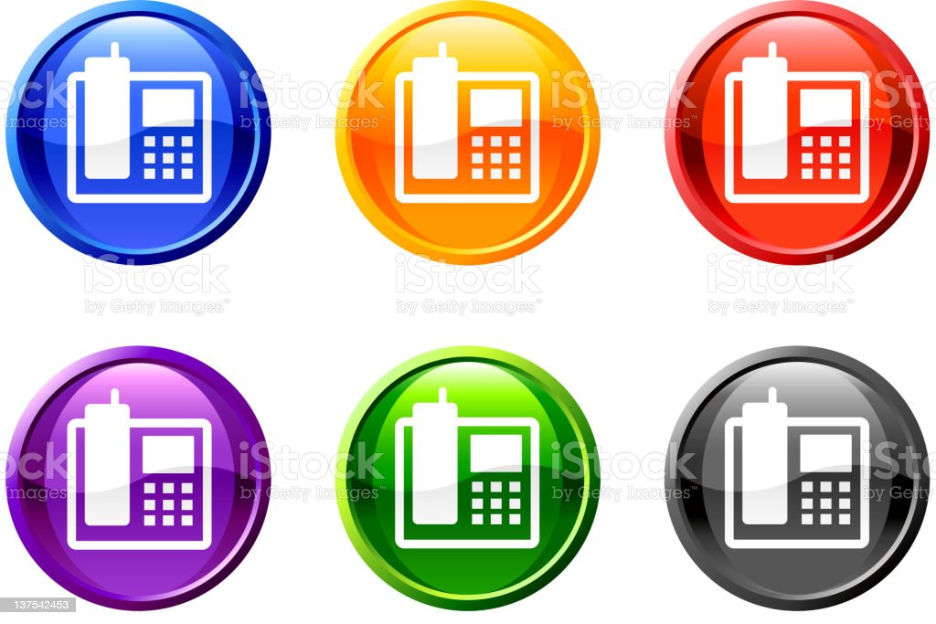 cordless phone button royalty free vector art royalty-free stock vector art