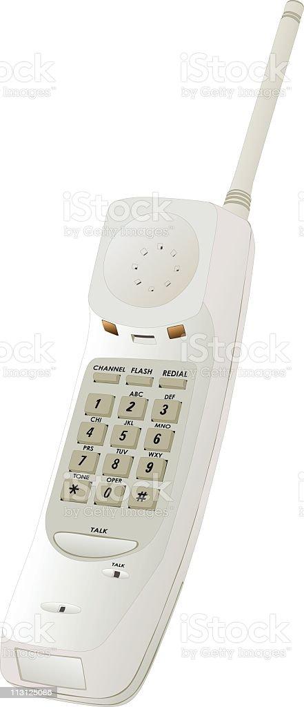 Cordless Phone (Vector) royalty-free stock vector art