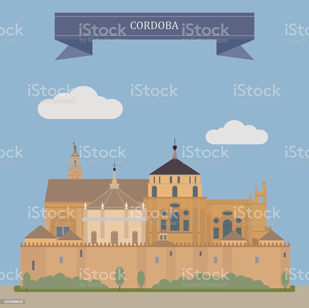 Cordoba, Spain vector art illustration