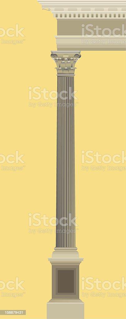 corinth order royalty-free stock vector art