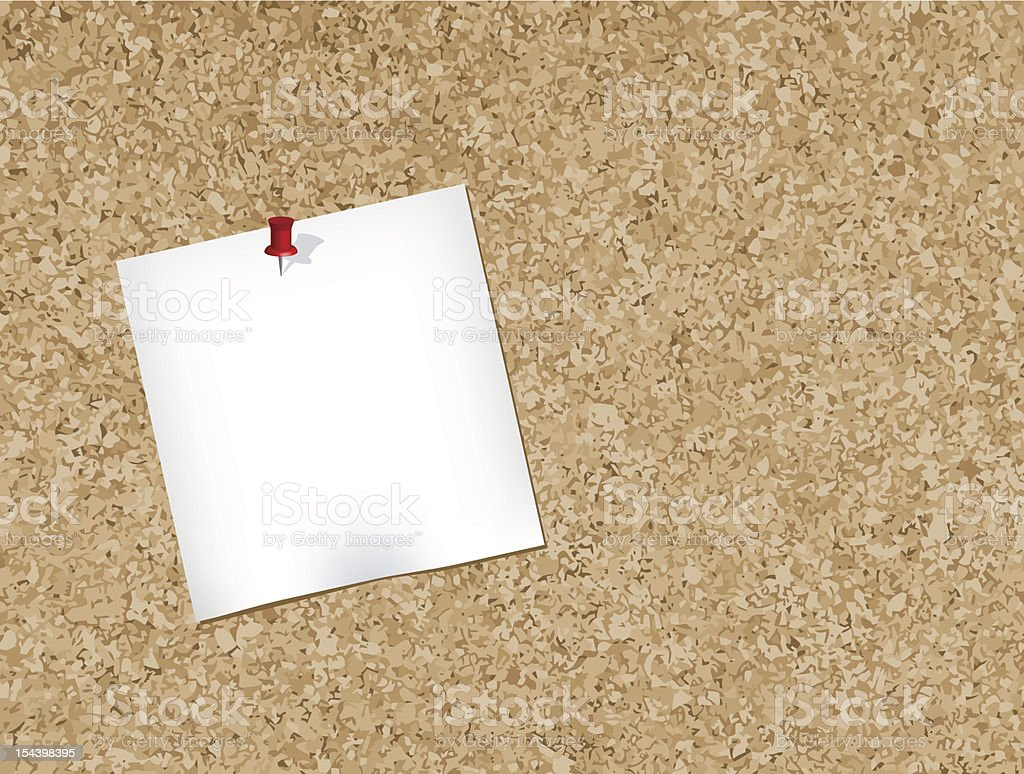 Cork bulletin board royalty-free stock vector art