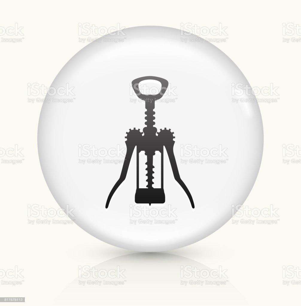 Cork Opener icon on white round vector button vector art illustration