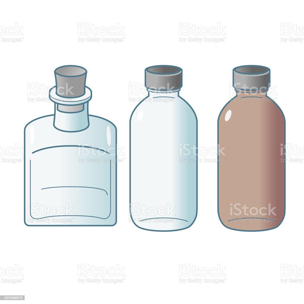 Cork Square and Boston Bottles vector art illustration