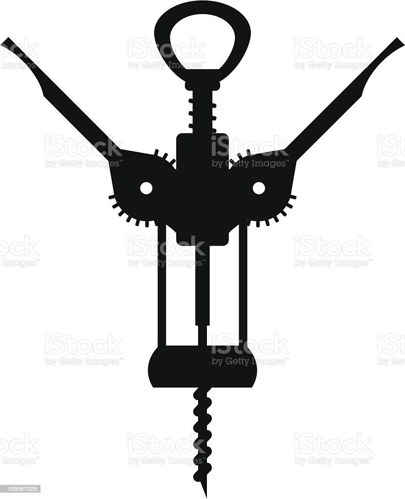 corkscrew vector art illustration