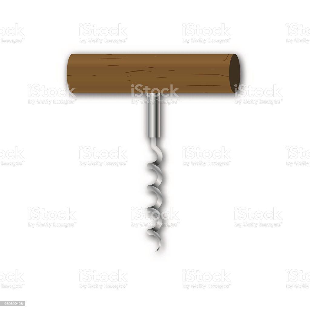 Corkscrew, vector illustration. vector art illustration