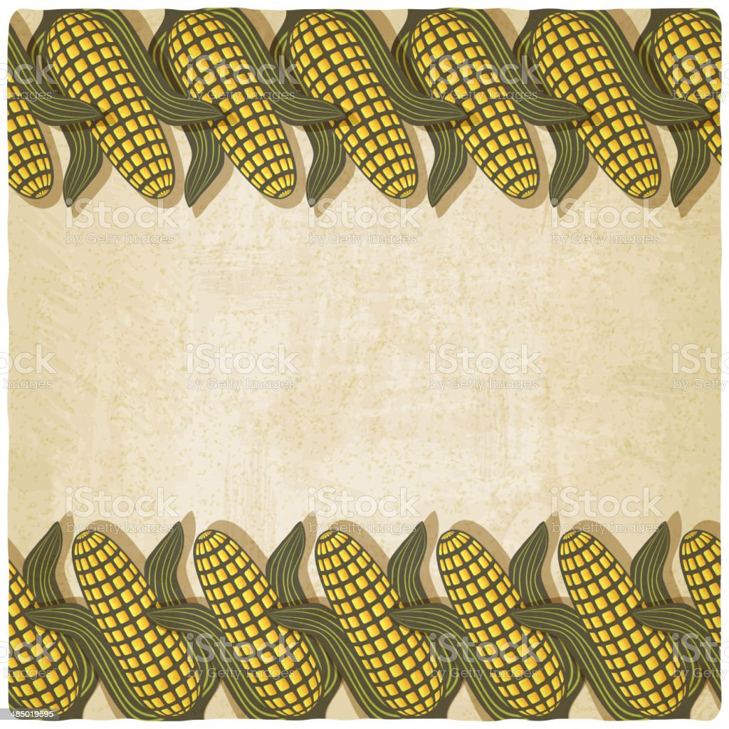 Corn frame old background royalty-free stock vector art