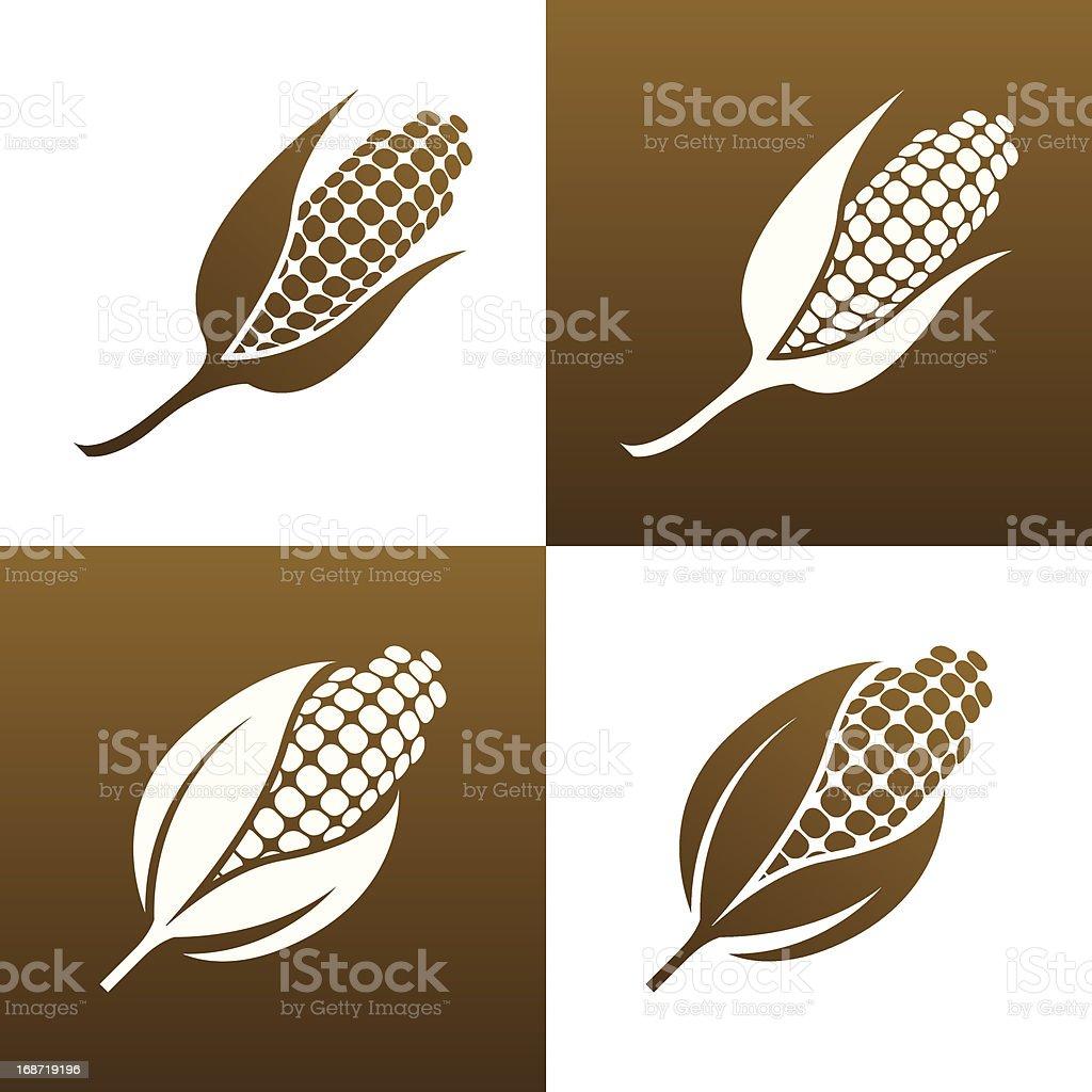 Corn Icon vector art illustration
