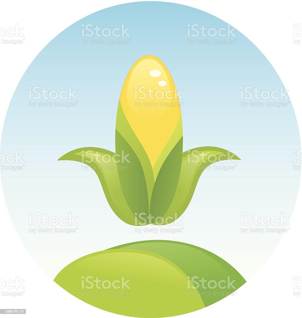 Corn symbol royalty-free stock vector art