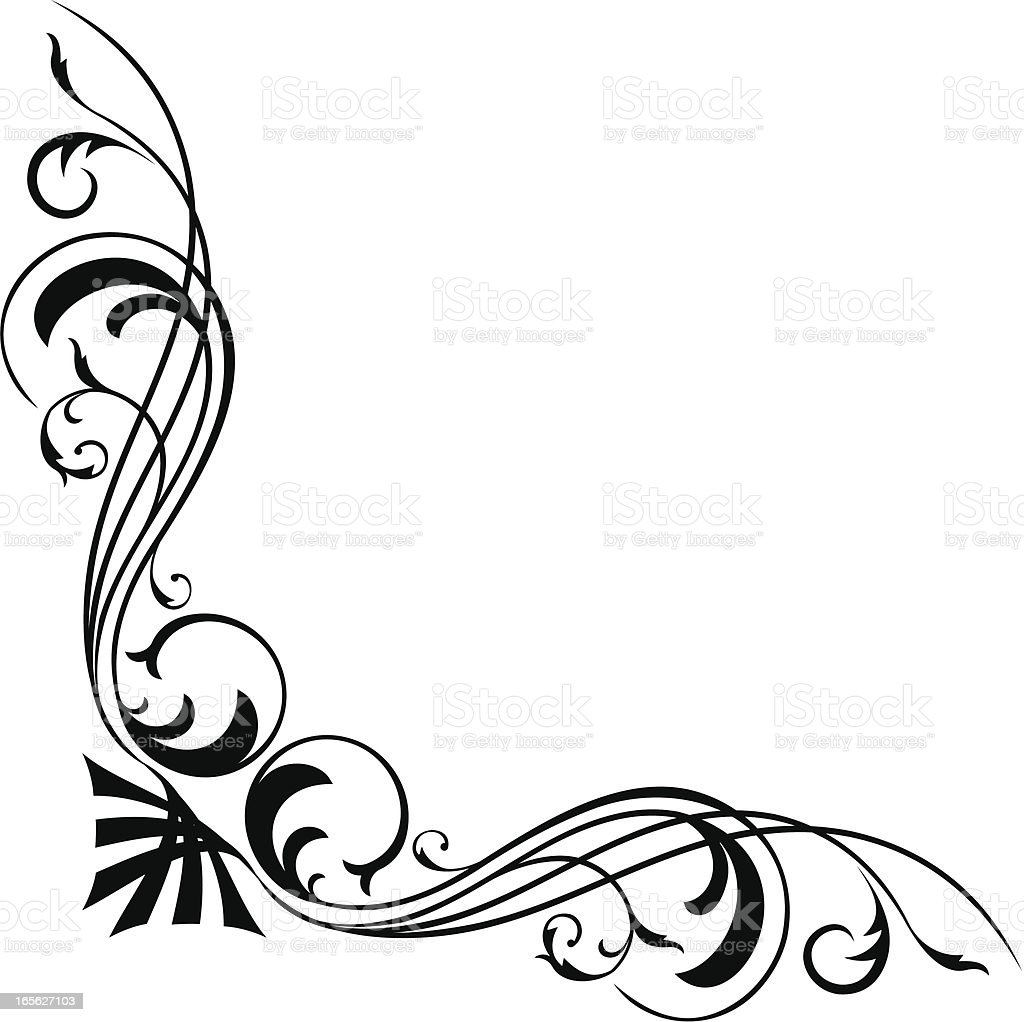 Corner Accent royalty-free stock vector art
