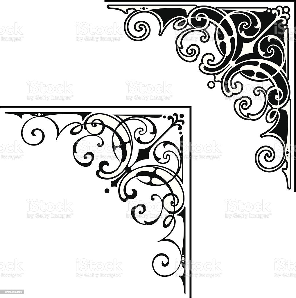 Corner art design vector art illustration