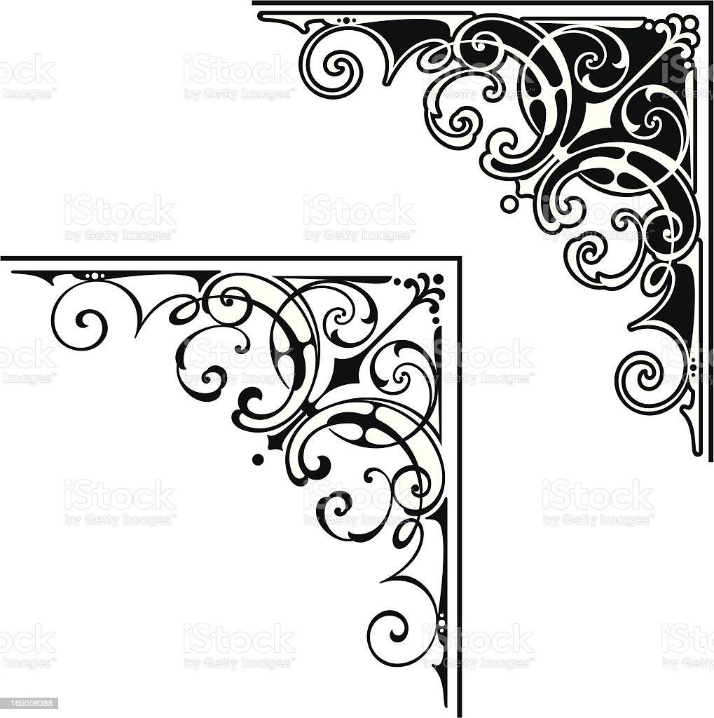 Corner art design vector art illustration