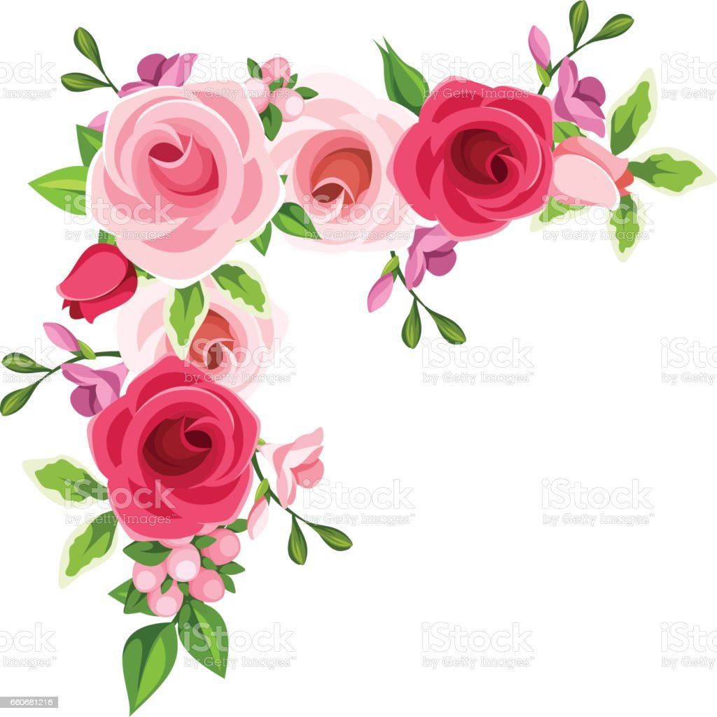 corner background with red and pink roses vector free christmas borders clip art microsoft word Google Free Clip Art Borders