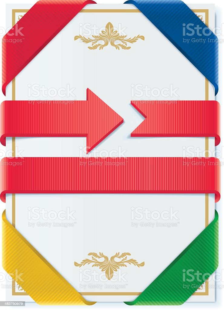 Corner Banner, Ribbons and Bookmarks royalty-free stock vector art