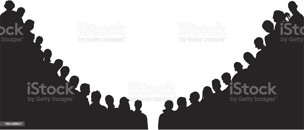 Corner Crowds royalty-free stock vector art