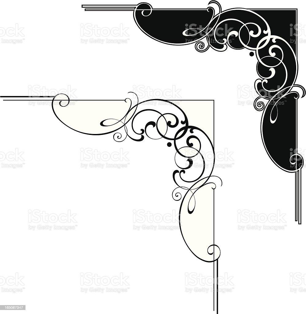 Corner design royalty-free stock vector art