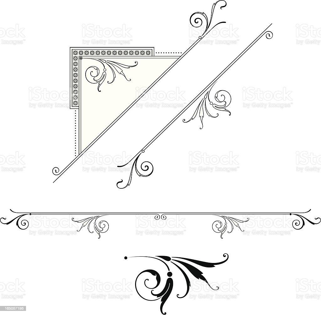 Corner Detail and Ruleline design royalty-free stock vector art