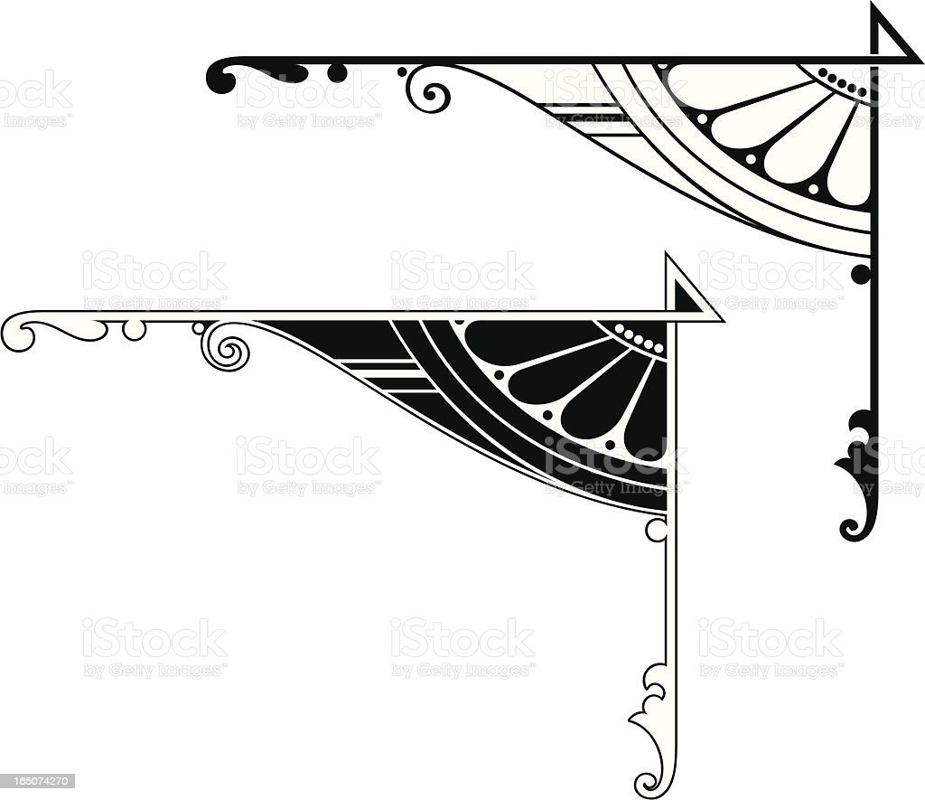 Corner details royalty-free stock vector art