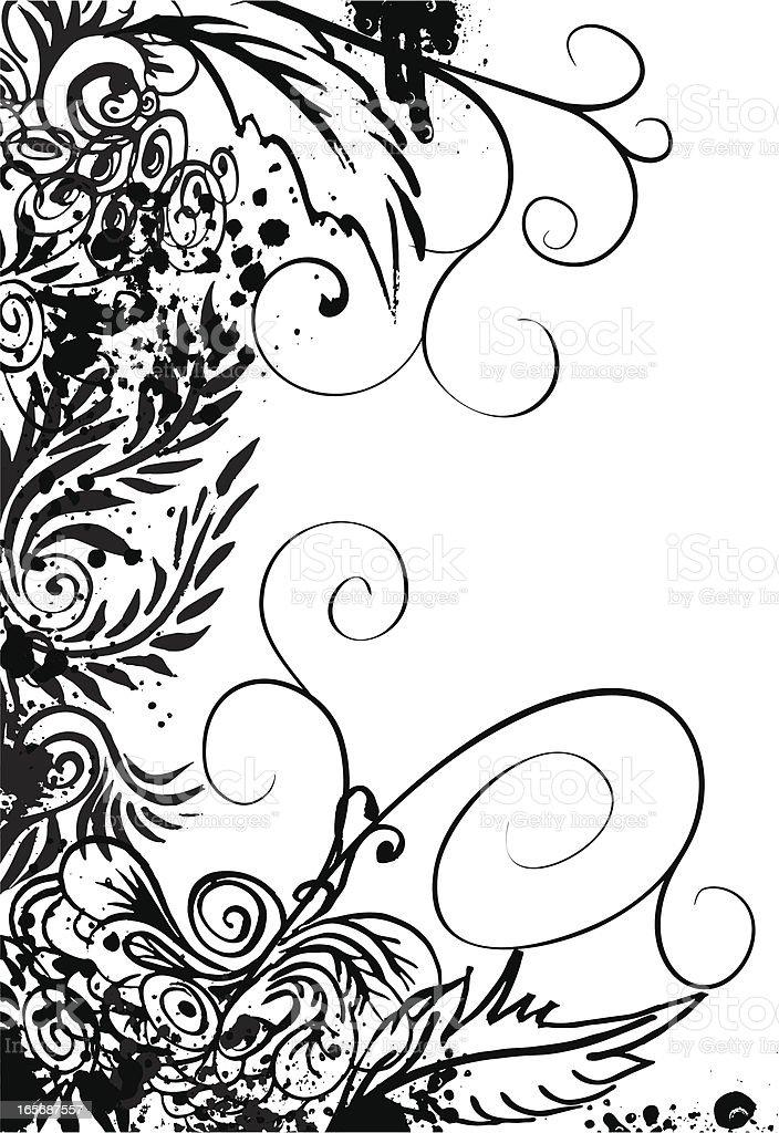 Corner doodle pattern royalty-free stock vector art