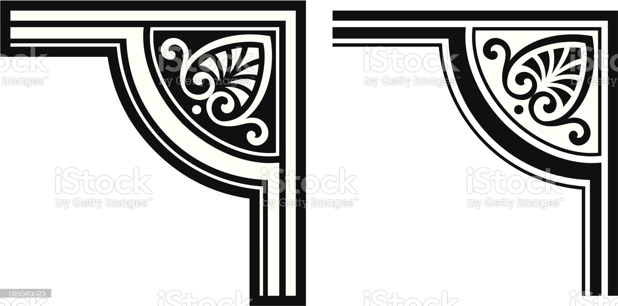 Corner element royalty-free stock vector art