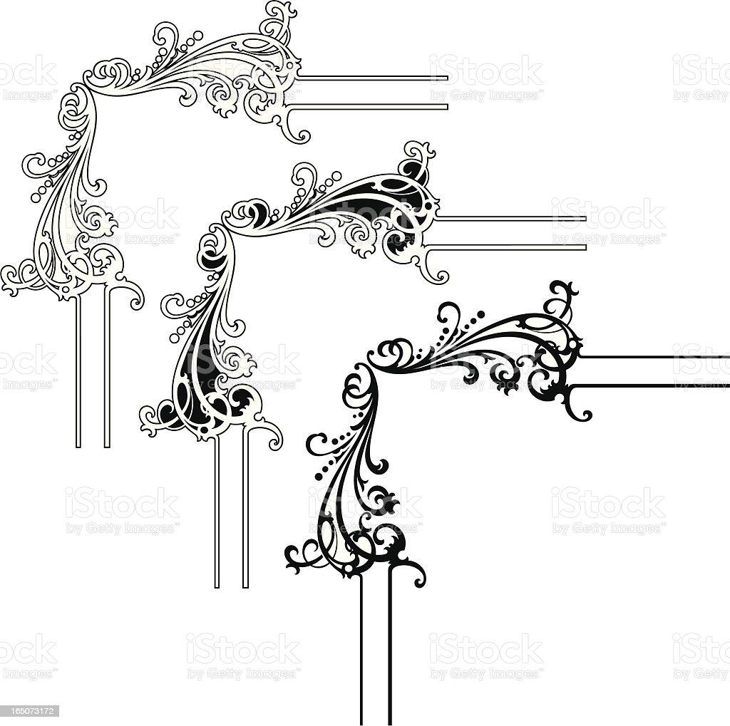 Corner Embelishments royalty-free stock vector art
