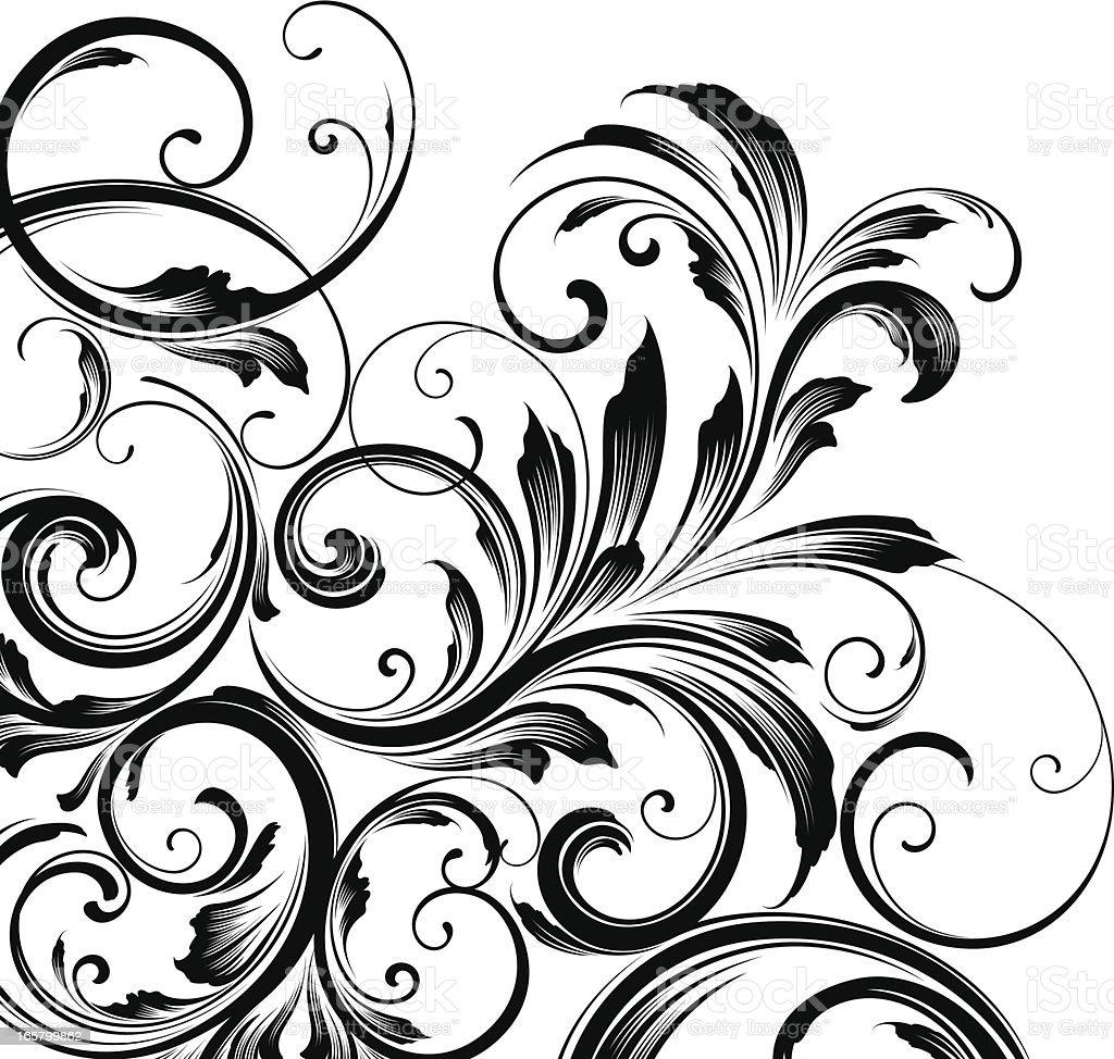 Corner motif background royalty-free stock vector art