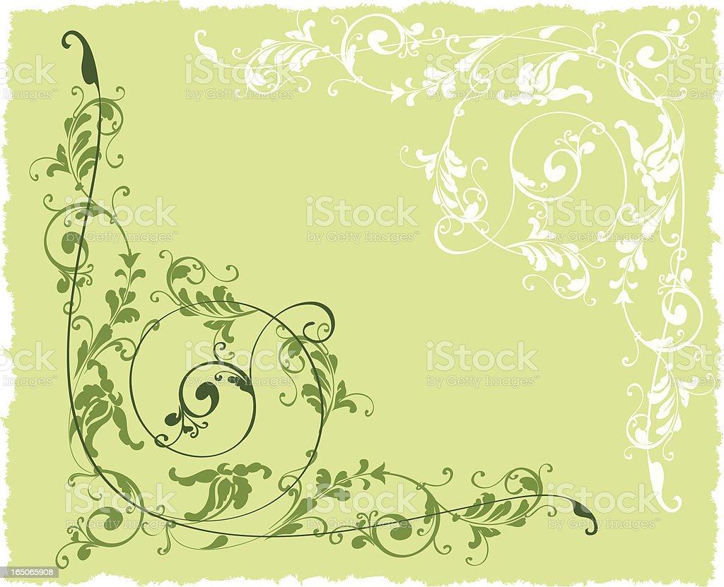 Corner ornament royalty-free stock vector art