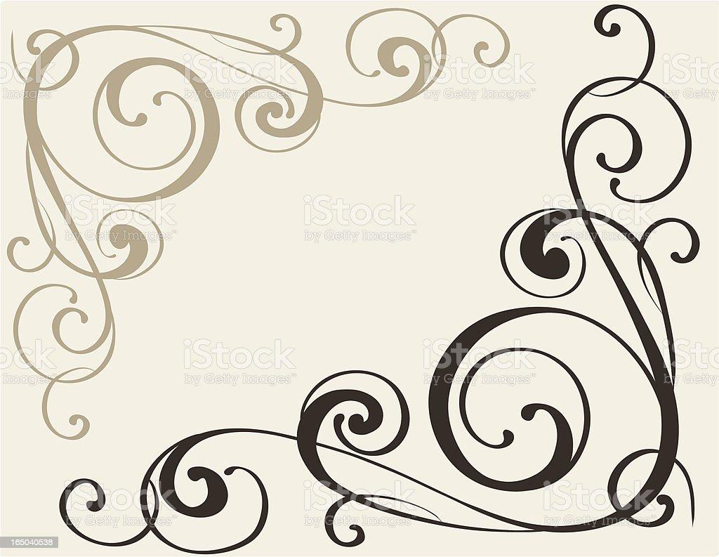 Corner ornament, vector royalty-free stock vector art