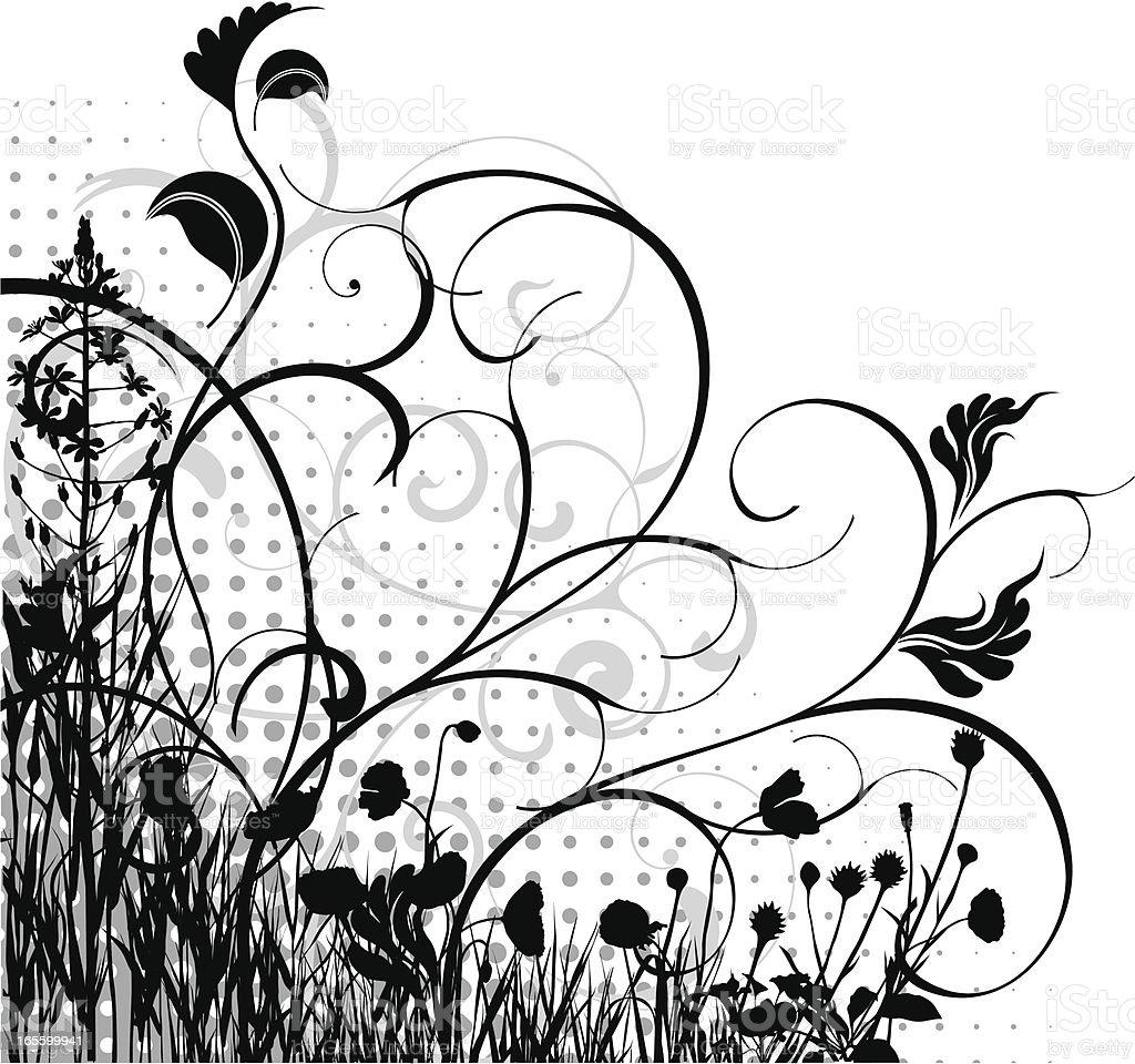 Corner pattern royalty-free stock vector art
