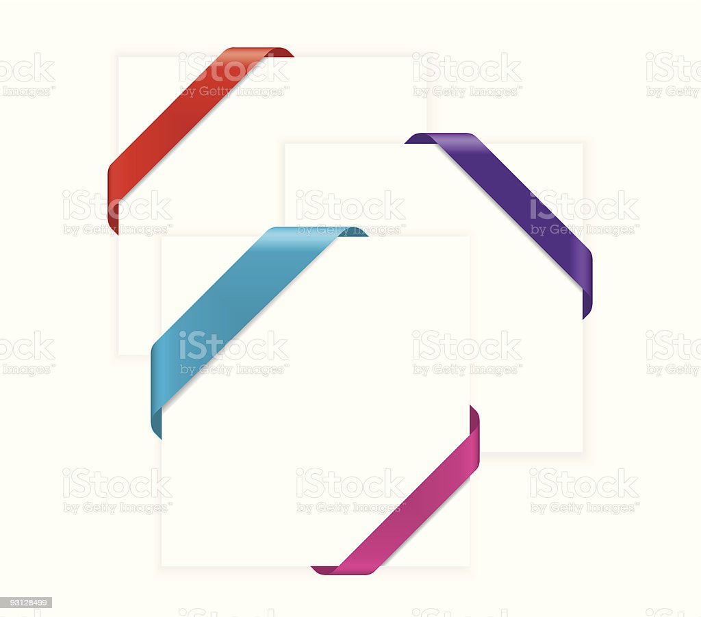 Corner Ribbons royalty-free stock vector art