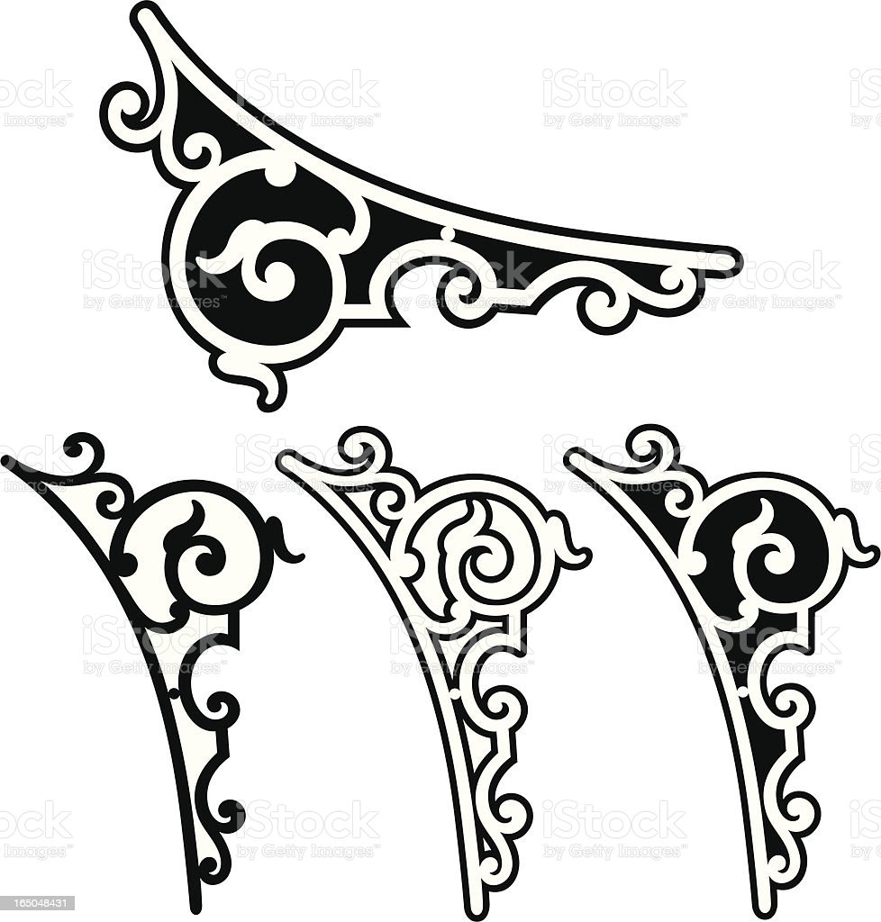 Corner scrolls royalty-free stock vector art