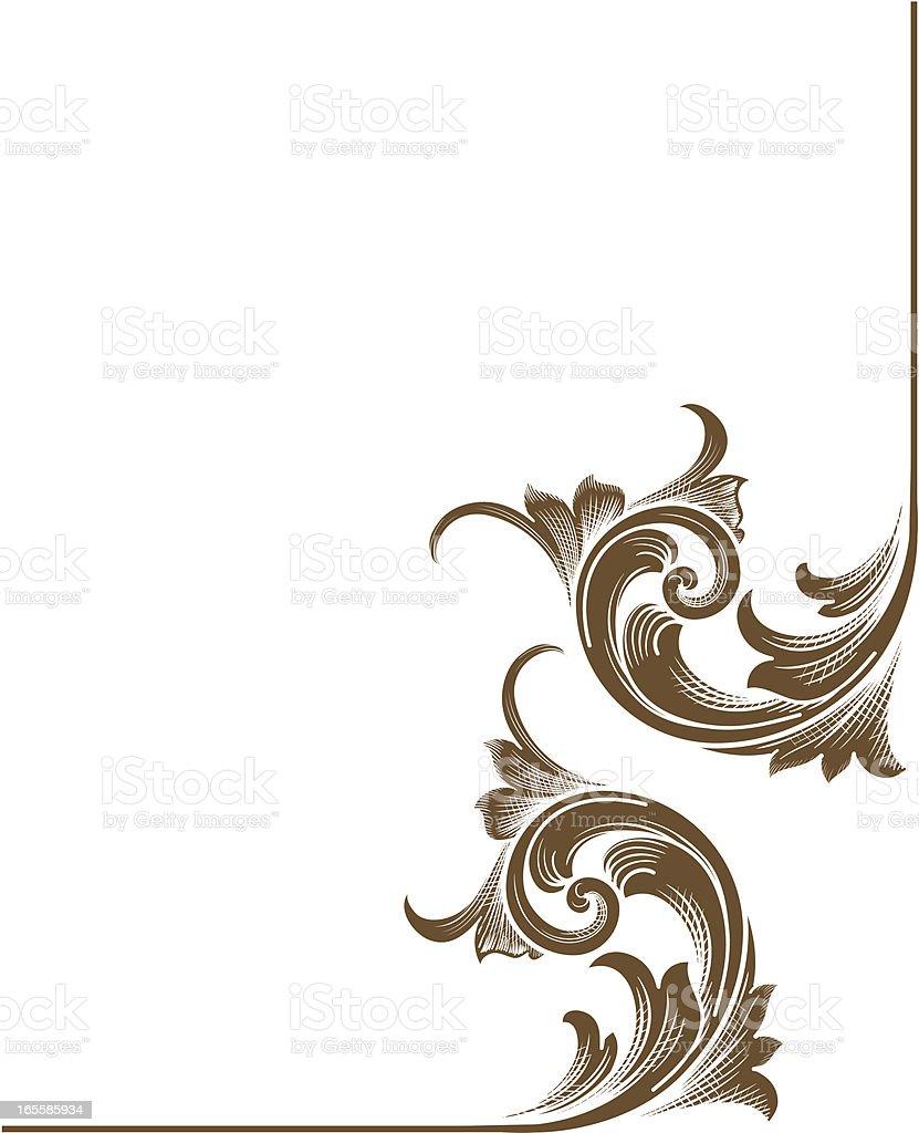 Corner Scrolls vector art illustration
