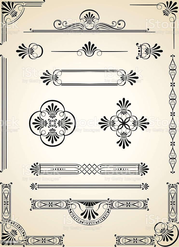 Corners, Decorative Dividers and Ornaments royalty-free stock vector art